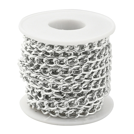 Aluminium Twisted Curb ChainsCHA-YW0001-01S-1