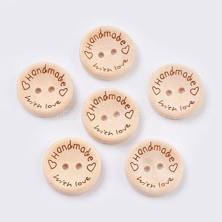 Wooden ButtonsBUTT-K007-08C-1