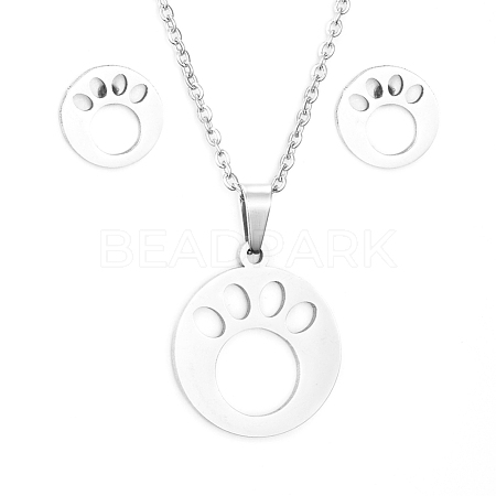 304 Stainless Steel Jewelry SetsSJEW-D094-44P-1