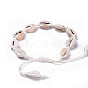 Adjustable Cowrie Shell AnkletsAJEW-AN00256-4