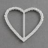 Shining Heart Wedding Invitation Ribbon BucklesRB-R008-02-2