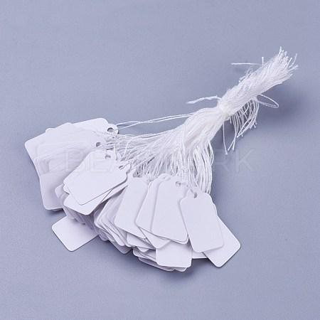 White Rectangle Jewelry Price TagsX-TOOL-C003-02-1