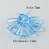 Garment Findings Transparent Acrylic Flower Sewing Shank ButtonsX-TACR-R18-M-3