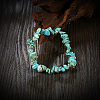 Natural Turquoise Chips Stretch BraceletsBJEW-BB16534-F-5