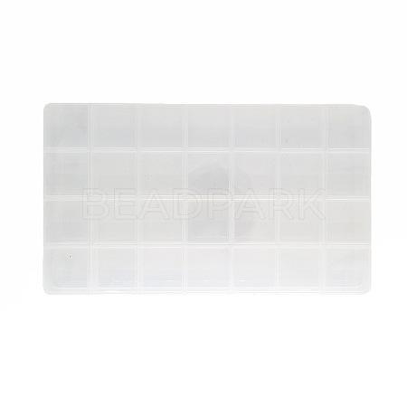 28 Grids Transparent Polypropylene(PP) Bead OrganizersX-CON-J003-03-1