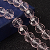 Faceted Glass Round Beads StrandsX-GF10mmC29Y-1