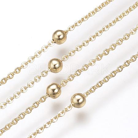 Brass Cable ChainsX-KK-S332-17G-1