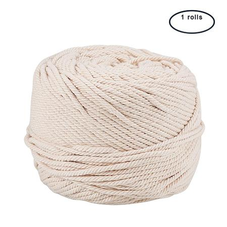 Cotton String Threads for Jewelry Making OCOR-WH0009-C01-4mm-1