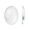 Transparent Oval Glass Cabochons X-GGLA-R022-40x30-1