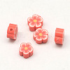 Handmade Polymer Clay Flower Plum Blossom Beads CLAY-Q213-6mm-M-2