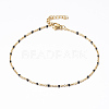 304 Stainless Steel Cable Chain Anklets AJEW-H010-01-2