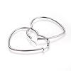 201 Stainless Steel Hoop EarringsEJEW-A052-09C-2