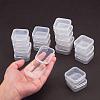 Transparent Plastic Bead ContainersCON-YW0001-04-6