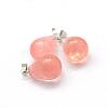 Teardrop Cherry Quartz Glass PendantsX-G-Q435-11-2