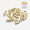 Long-Lasting Plated Brass Slide On End ClaspsX-KK-K193-119G-NF-1