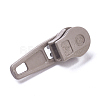 Spray Painted Alloy Replacement Zipper SlidersPALLOY-WH0067-97H-2