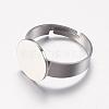 Adjustable 304 Stainless Steel Finger Rings ComponentsSTAS-F149-20P-2
