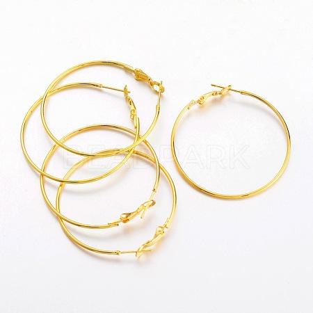 Brass Earring Findings HoopsEC108-3NFG-1