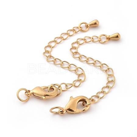 Long-Lasting Plated Brass Chain ExtenderX-KK-F711-09G-1
