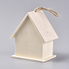 Unfinished Wooden BirdhouseX-HJEW-WH0006-13-2