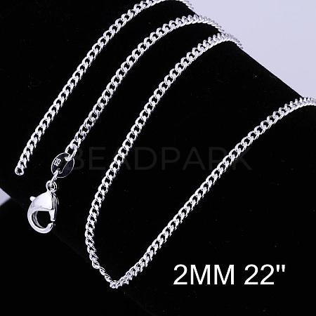 Brass Twisted Curb Chain Necklace MakingNJEW-BB10884-22-1