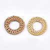 Handmade Reed Cane/Rattan Woven Linking Rings X-WOVE-T005-06A-2