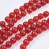 Natural Jade Bead Strands X-G-R165-8mm-15-1