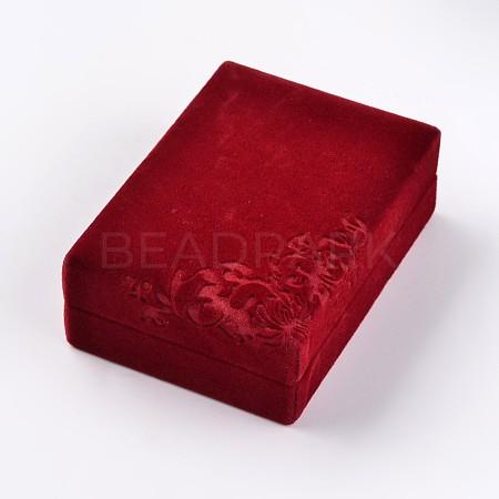 Rectangle Velvet Necklace BoxesX-VBOX-D003-01-1
