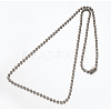 Hot Selling 304 Stainless Steel Ball Chain NecklaceNJEW-E045-13P-2