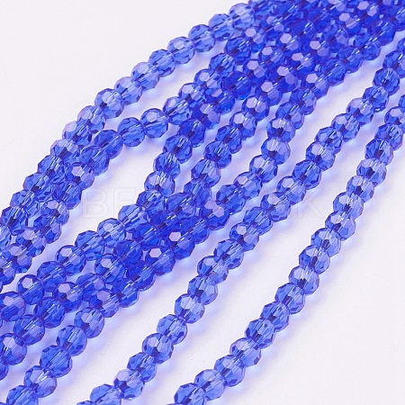 Glass Beads Strands EGLA-J042-4mm-02-1