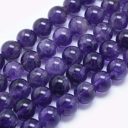 Natural Amethyst Beads Strands G-E481-03-6mm-1
