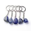 Natural Lapis Lazuli KeychainX-G-Q484-D06-1