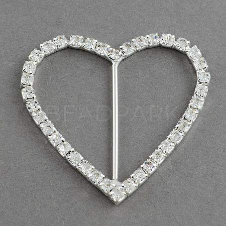 Shining Heart Wedding Invitation Ribbon BucklesRB-R008-02-1