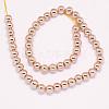 Electroplate Glass Beads StrandsX-EGLA-G017-10mm-A01-2