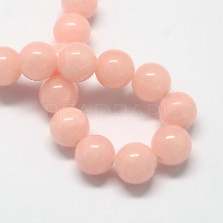 Natural Dyed Yellow Jade Gemstone Bead StrandsG-R271-6mm-Y01-1