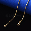 304 Stainless Steel Round Snake Chain Necklace MakingNJEW-S420-009A-G-4