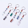 Natural/Synthetic Gemstone Chakra Pointed KeychainKEYC-P040-D-1