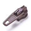 Spray Painted Alloy Replacement Zipper SlidersPALLOY-WH0067-97X-1