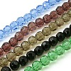Faceted Glass Round Beads Strands X-GF10MM-2