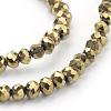 Electroplate Glass Beads StrandsEGLA-J025-F05-3