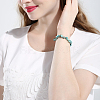 Natural Turquoise Chips Stretch BraceletsBJEW-BB16534-F-8