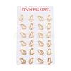 304 Stainless Steel Stud EarringsEJEW-F200-09G-3