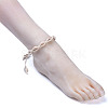 Adjustable Cowrie Shell AnkletsAJEW-AN00256-5