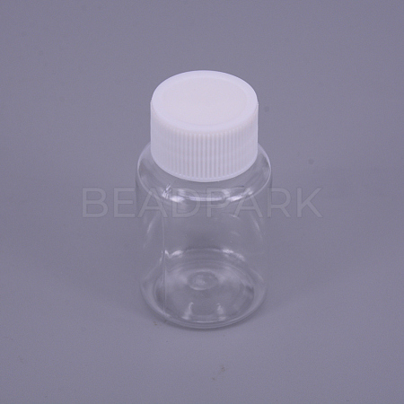 30ML PET Plastic Jar with Screw Top Lids AJEW-TAC0020-05-1