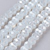 Electroplate Glass Bead StrandsX-GLAA-F001-6x4mm-23L-1
