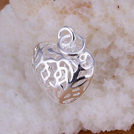 Brass Hollow Heart PendantsKK-BB11560-1