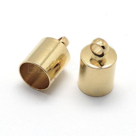 Brass Cord EndsX-KK-D219-8x4-G-1
