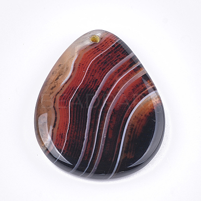 Natural Banded Agate/Striped Agate Pendants G-T105-43-1