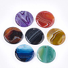 Natural Banded Agate/Striped Agate Pendants G-T105-41-1