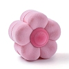 Plum Blossom Shape Velvet Jewelry BoxesVBOX-L002-F01-1